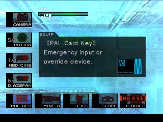 Metal Gear Solid Pal Key